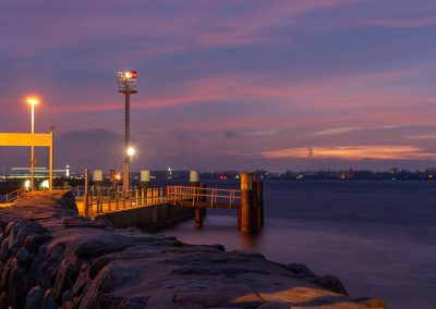 amasing sunset at baltic sea on kiel bay Laboe